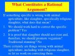 what constitutes a rational argument