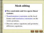 mesh editing