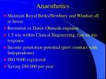 anaesthetics