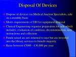 disposal of devices
