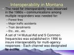 interoperability in montana