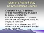 montana public safety communications council