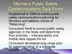 montana public safety communications task force