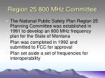 region 25 800 mhz committee