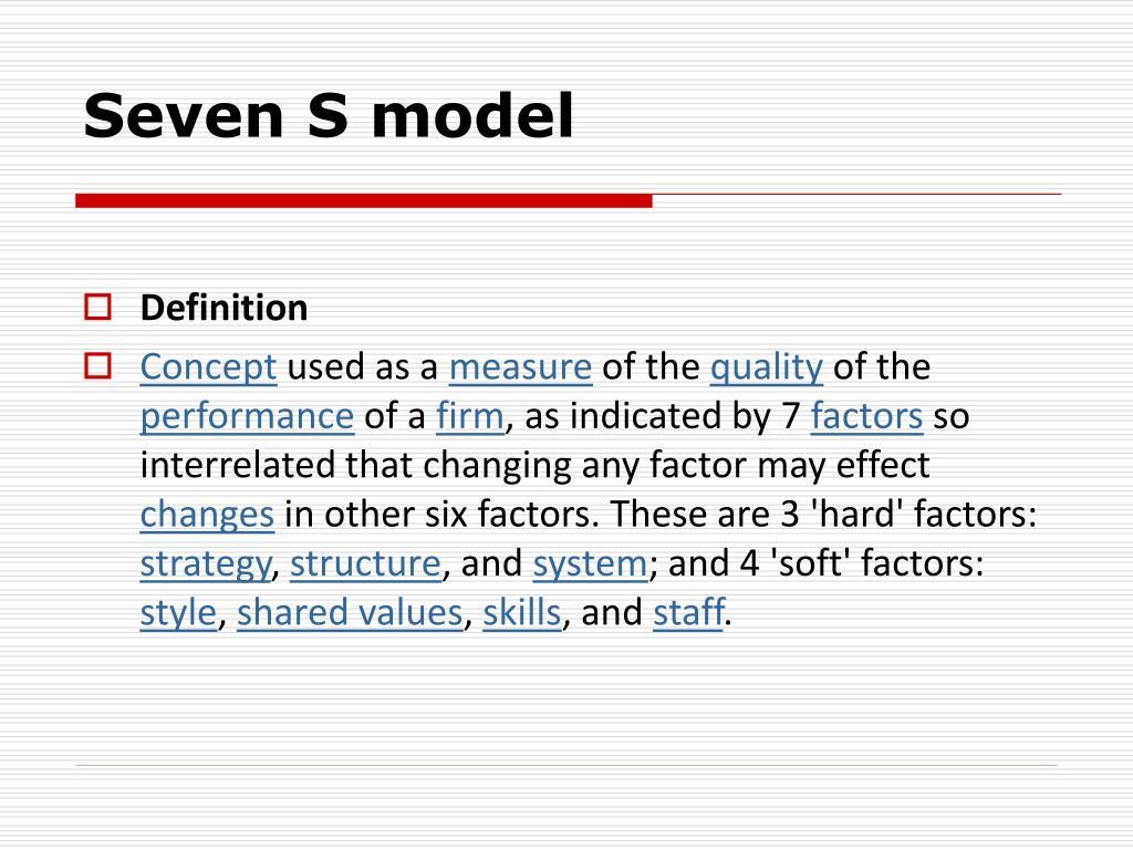 seven s model l.