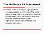 the mckinsey 7s framework10