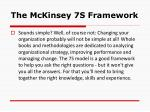 the mckinsey 7s framework9