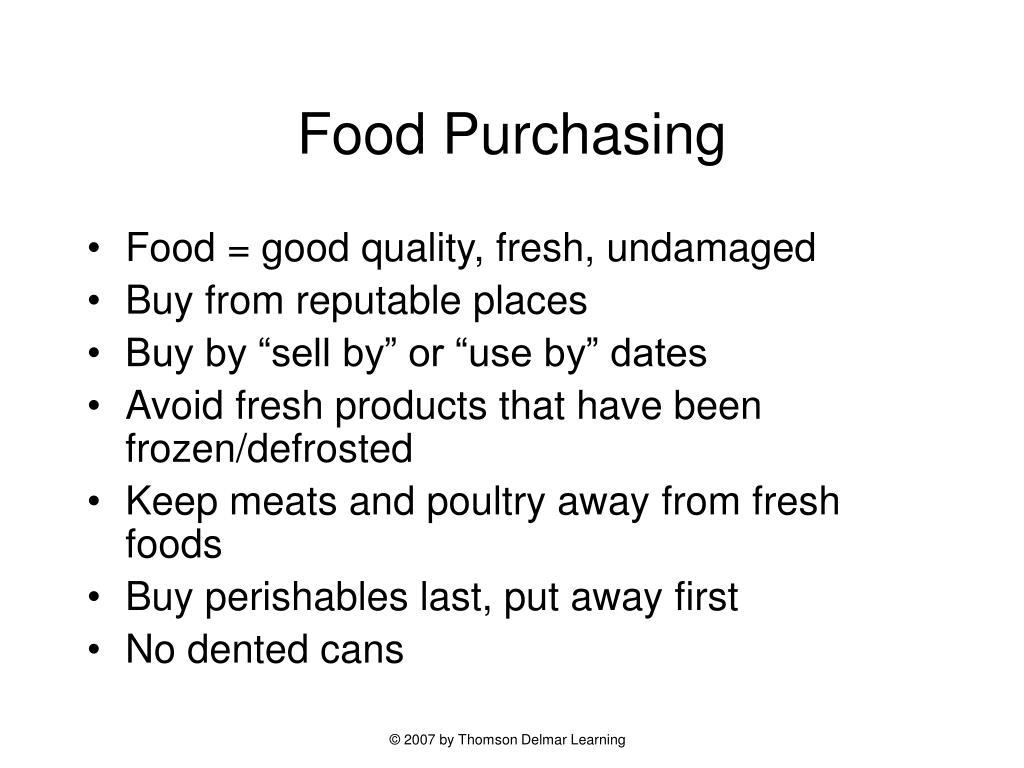 Food Purchasing