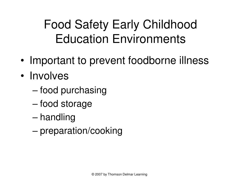 Food Safety Early Childhood Education Environments