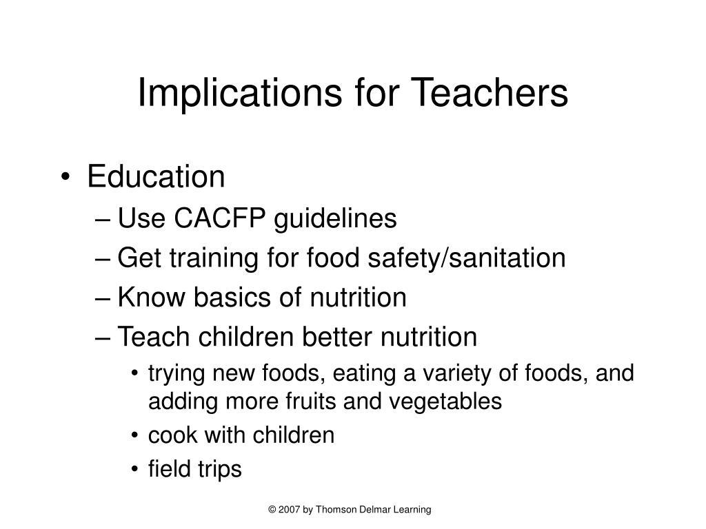 Implications for Teachers