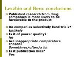 lexchin and bero conclusions