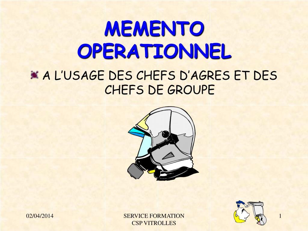memento operationnel l.