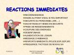 reactions immediates
