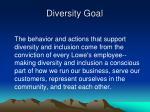 diversity goal