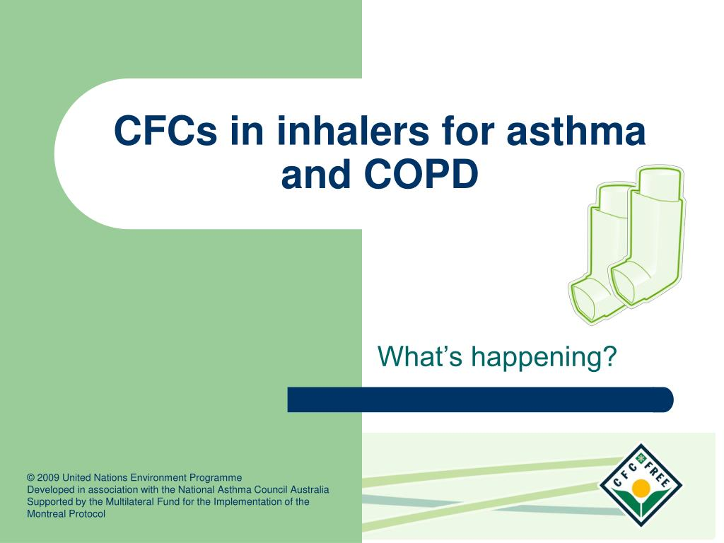 cfcs in inhalers for asthma and copd l.