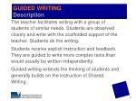 guided writing description