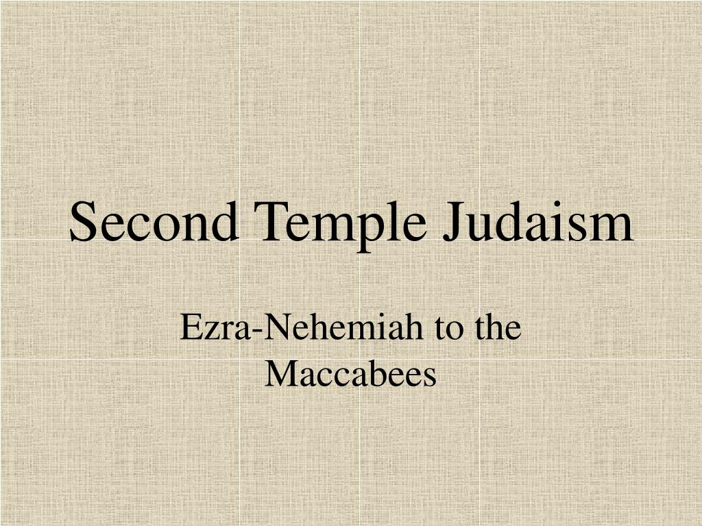 second temple judaism l.