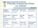 principle acupuncture points for arthritis