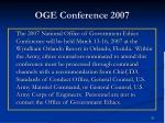 oge conference 2007