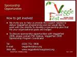 sponsorship opportunities10