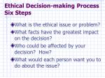 ethical decision making process six steps
