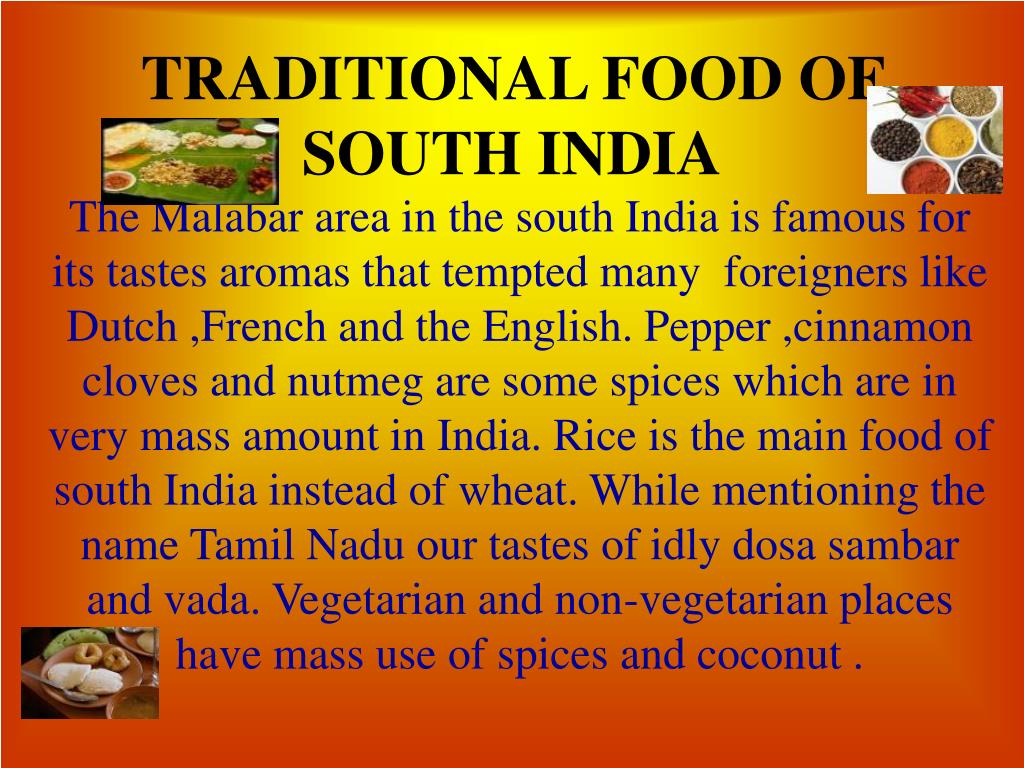 traditional food of south india l.