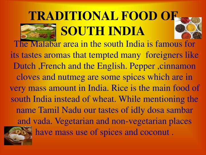 traditional food of south india n.