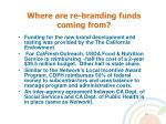 where are re branding funds coming from