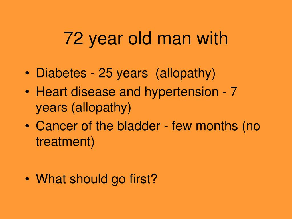 72 year old man with