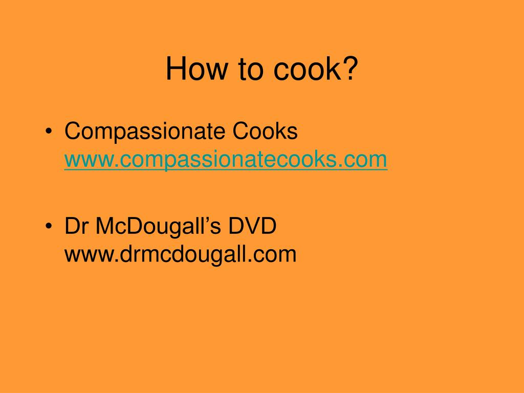 How to cook?