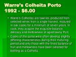 warre s colheita porto 1992 6 00