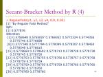 secant bracket method by r 4