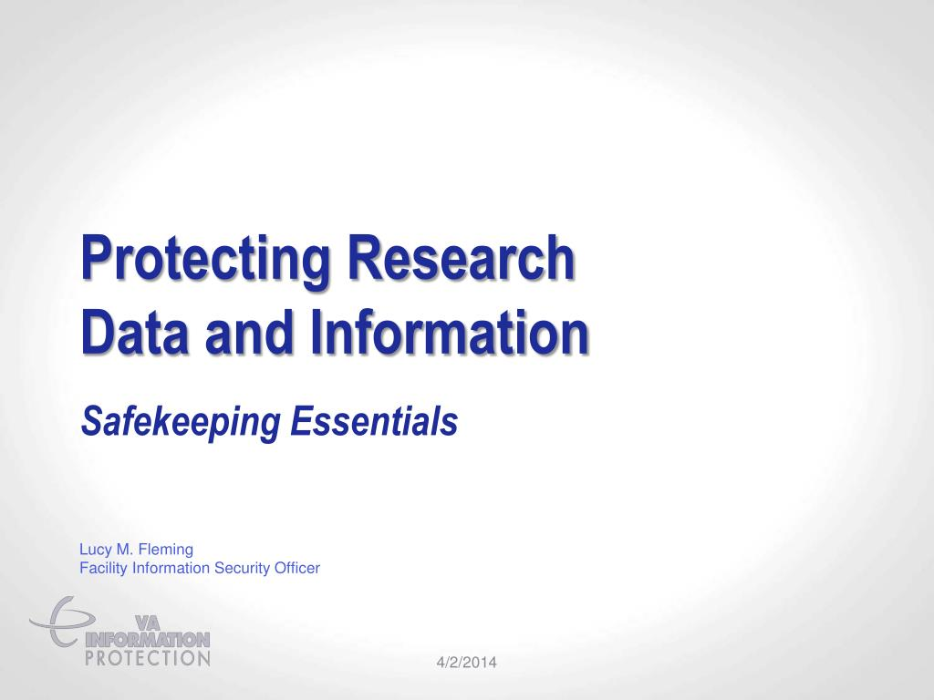 protecting research data and information l.