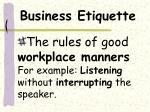 business etiquette4