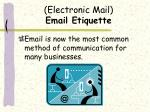 electronic mail email etiquette