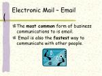 electronic mail email