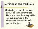 listening in the workplace
