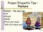 proper etiquette tips posture