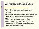 workplace listening skills
