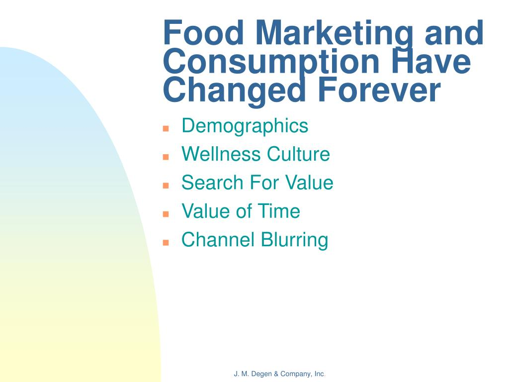 Food Marketing and Consumption Have Changed Forever