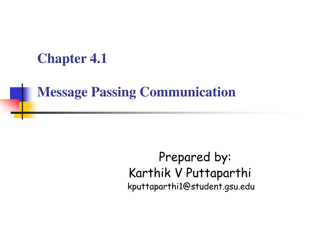 chapter 4 1 message passing communication l.