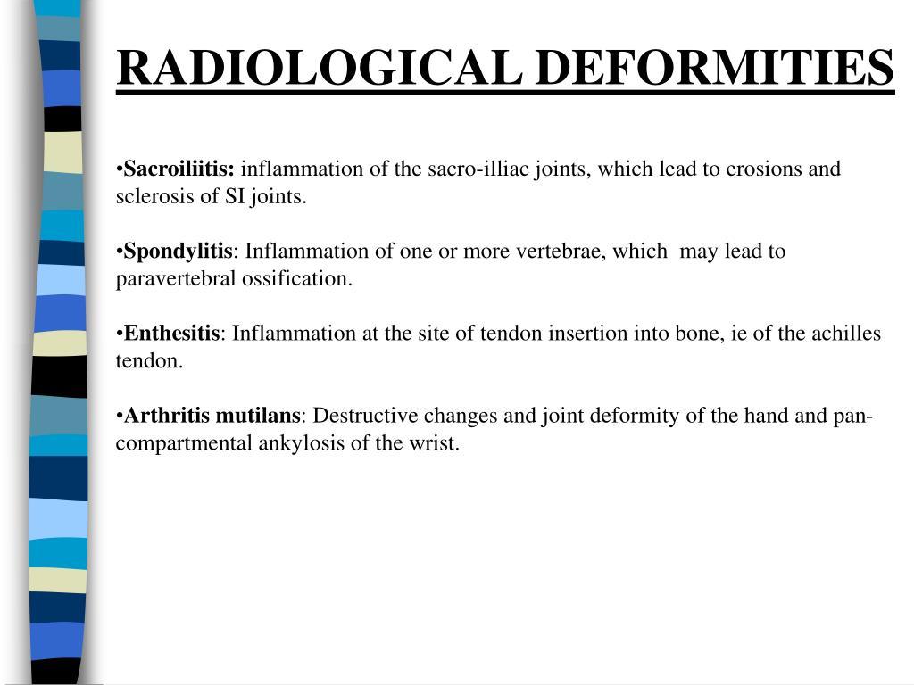 RADIOLOGICAL DEFORMITIES