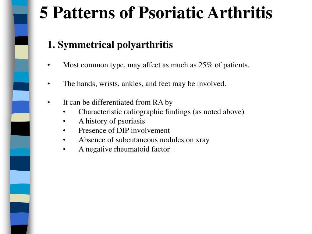 5 Patterns of Psoriatic Arthritis