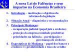 a nova lei de fal ncias e seus impactos na economia brasileira3