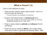 what is power 1
