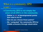 what is a community zpd cont