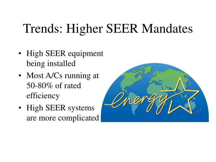 Trends: Higher SEER Mandates