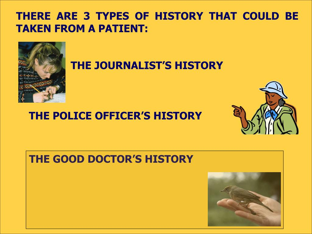 THE JOURNALIST'S HISTORY
