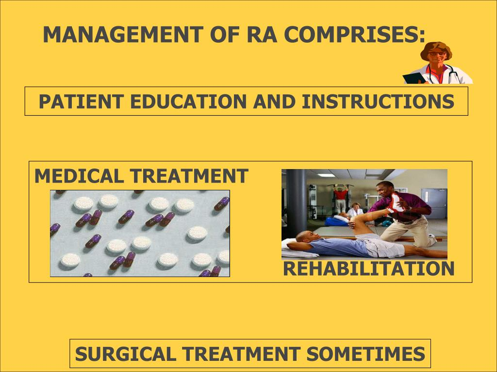 MANAGEMENT OF RA COMPRISES: