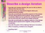 describe a design iteration